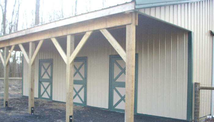 Lean-To Pole Building Kit